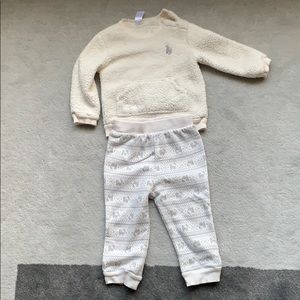 Just one YOU fleece body suit (18M)